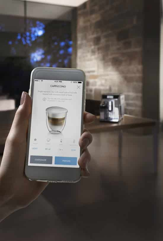 De'Longhi PrimaDonna Elite Experience applicatie- coffeeboon