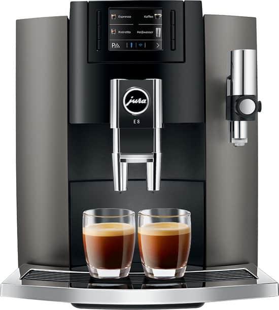 Jura E8 Dark Inox koffiemachine - Coffeeboon